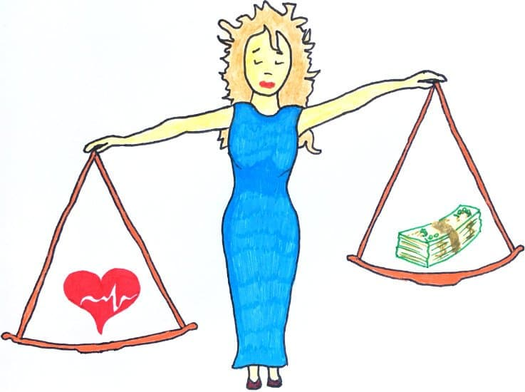 Выбор между чувствами и деньгами
