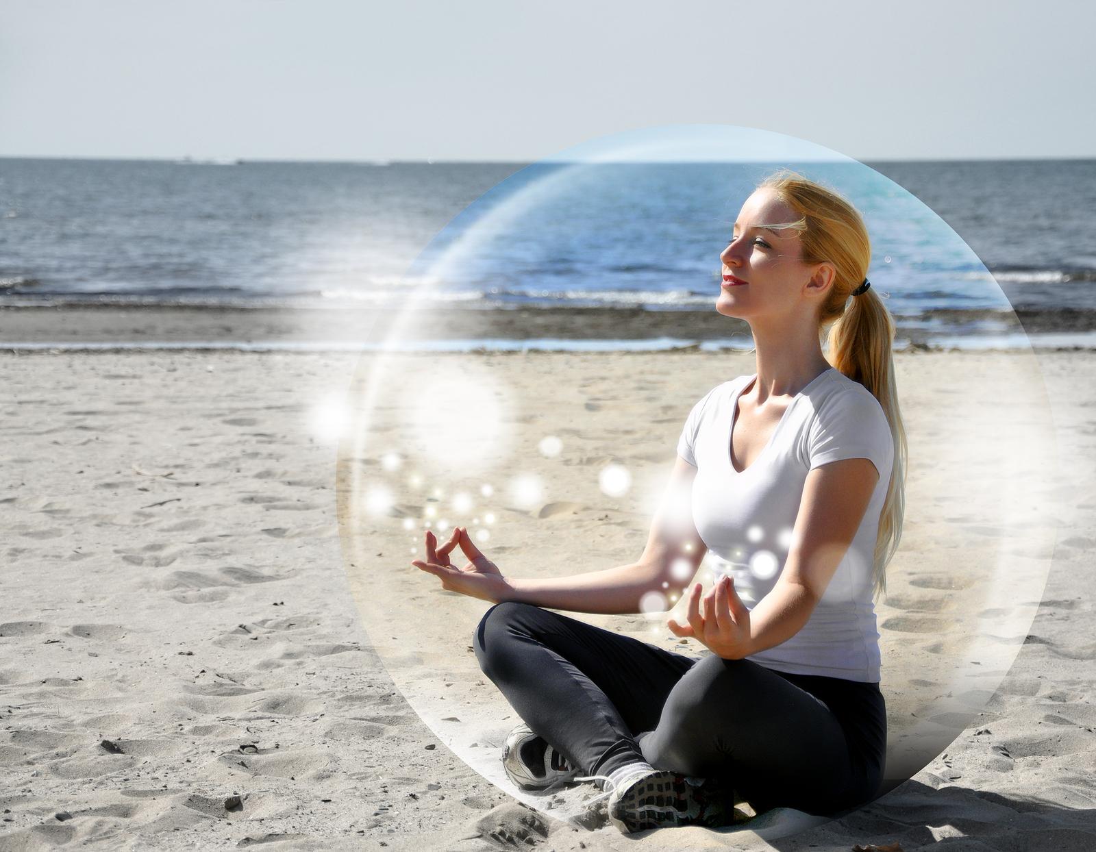 В процессе медитации обретается гармония с собой