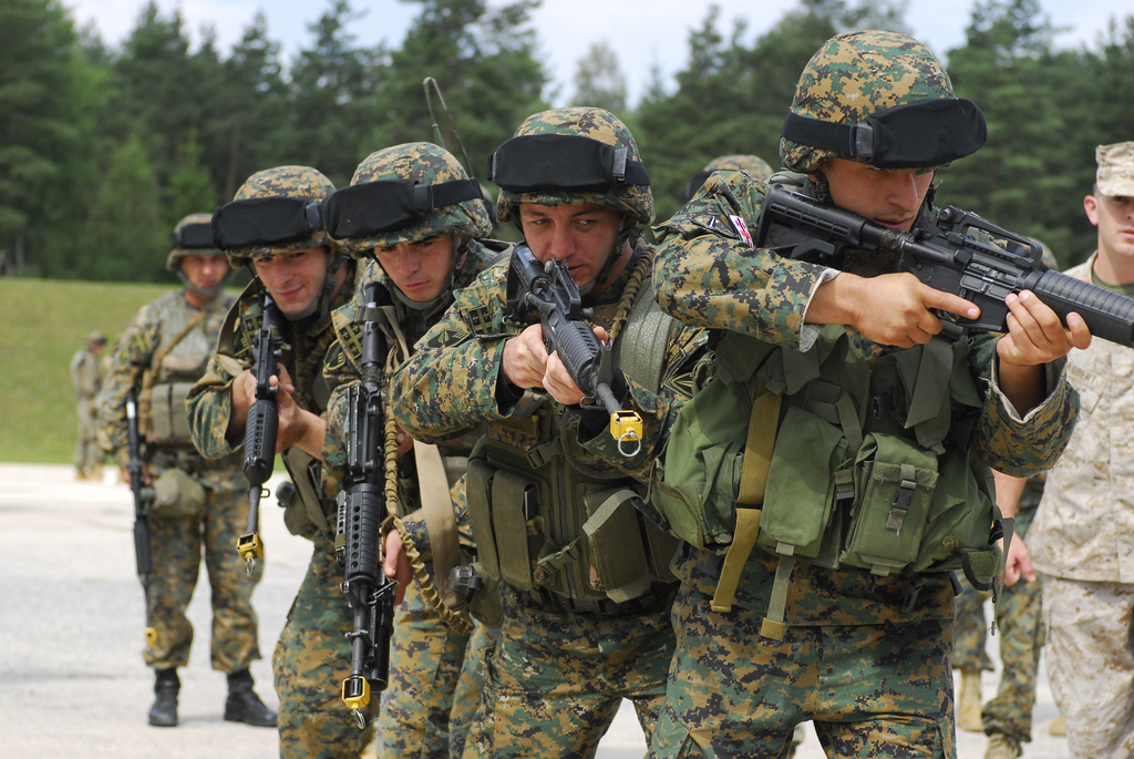 Военные в неспокойное время