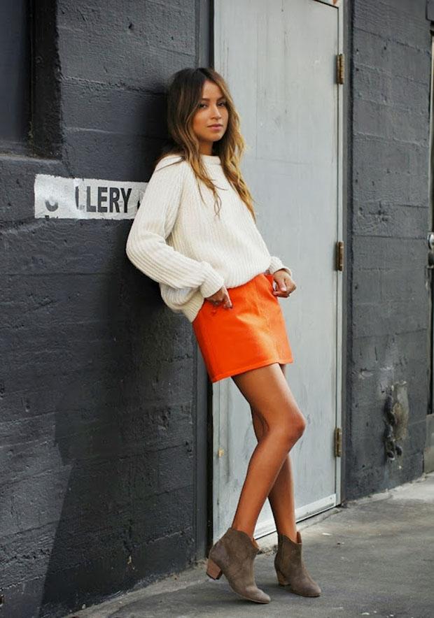 Применение оранжевого в гардеробе