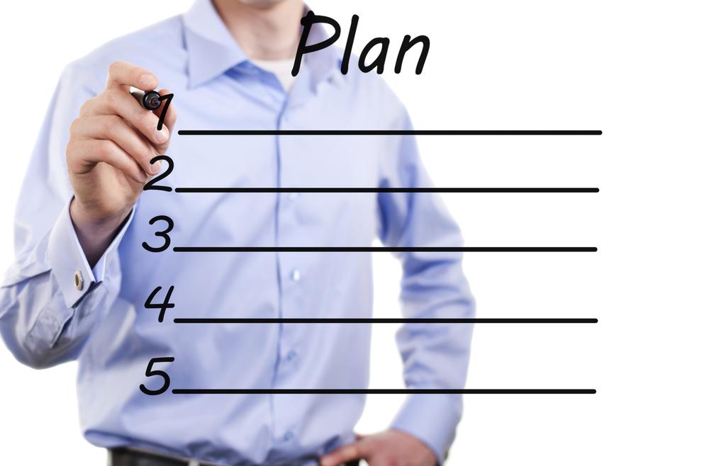 Человек составляет план