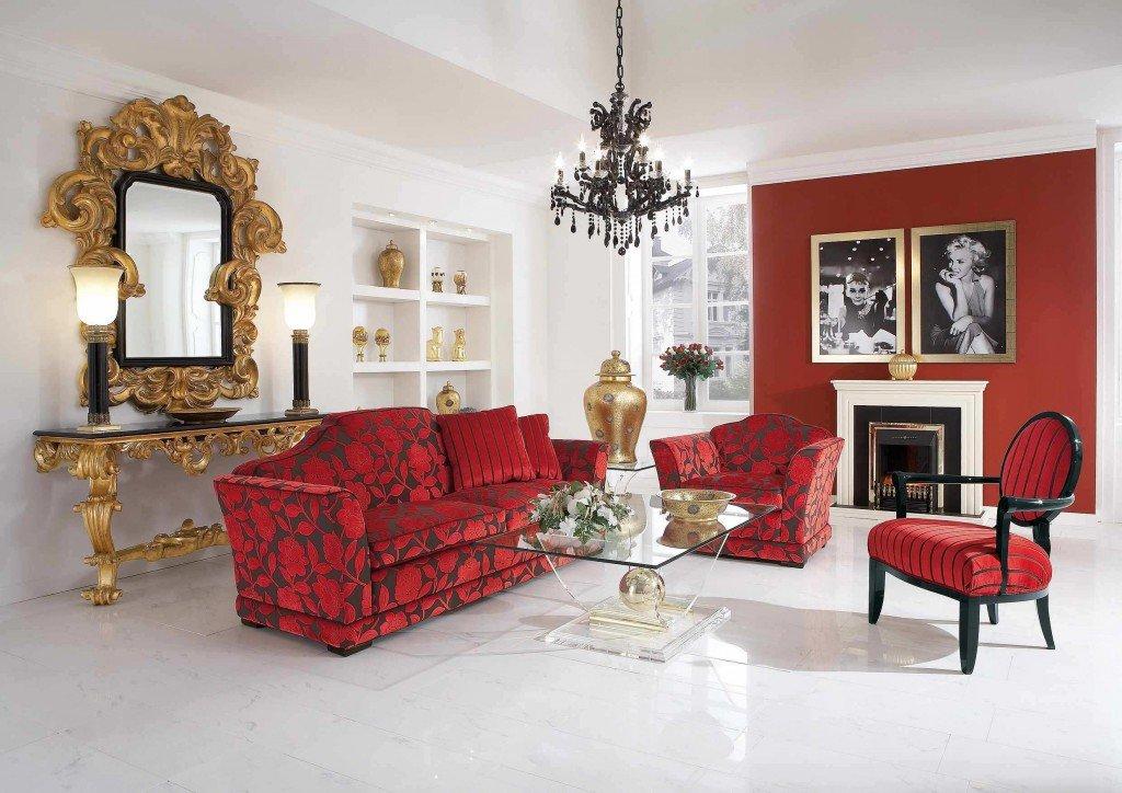 При оформлении интерьера важно не перестараться с красным цветом