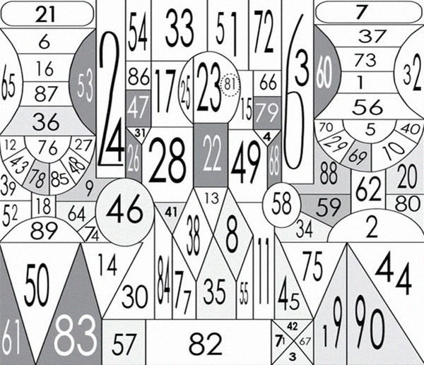 Вариант таблицы Шульте