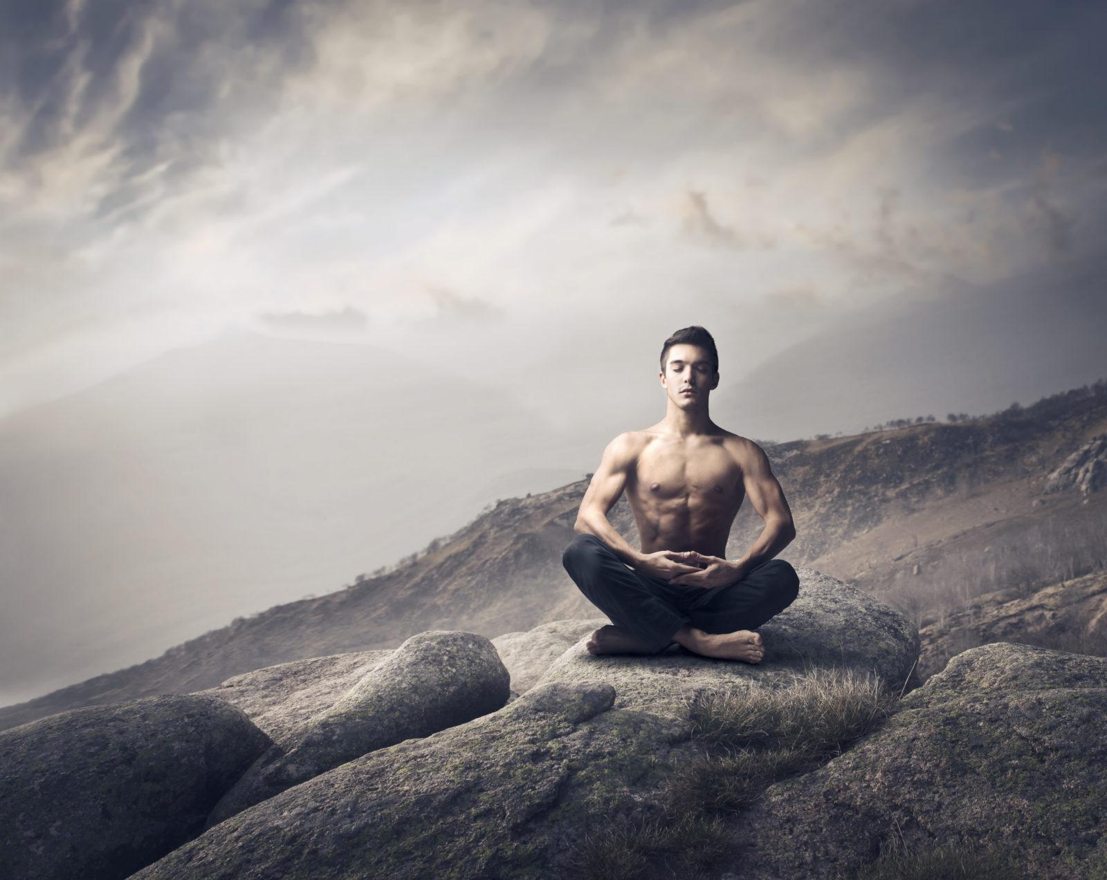 Спокойствие и расслабление мужчины
