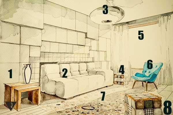 В методе Цицерона может использоваться комната