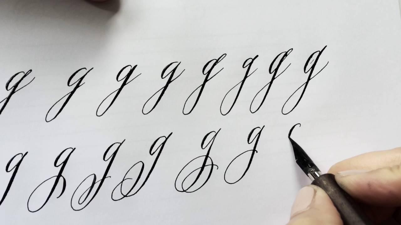 Буквы под наклоном вправо