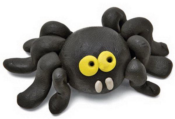 Пластилиновый паук