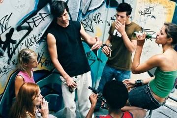 Группа девиантных подростков