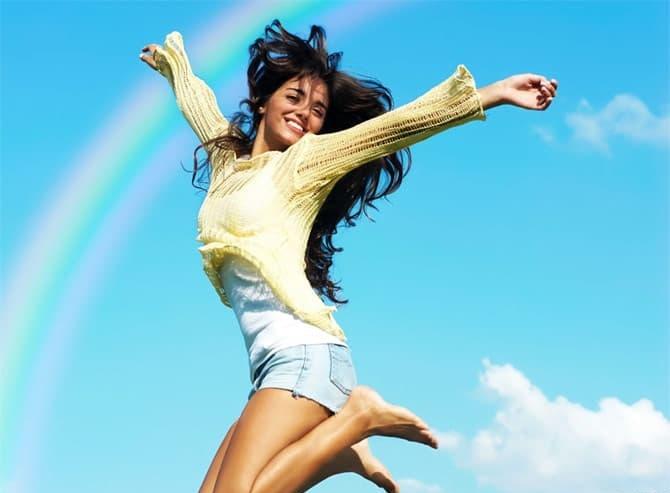 Счастливый человек с балансом разных сфер