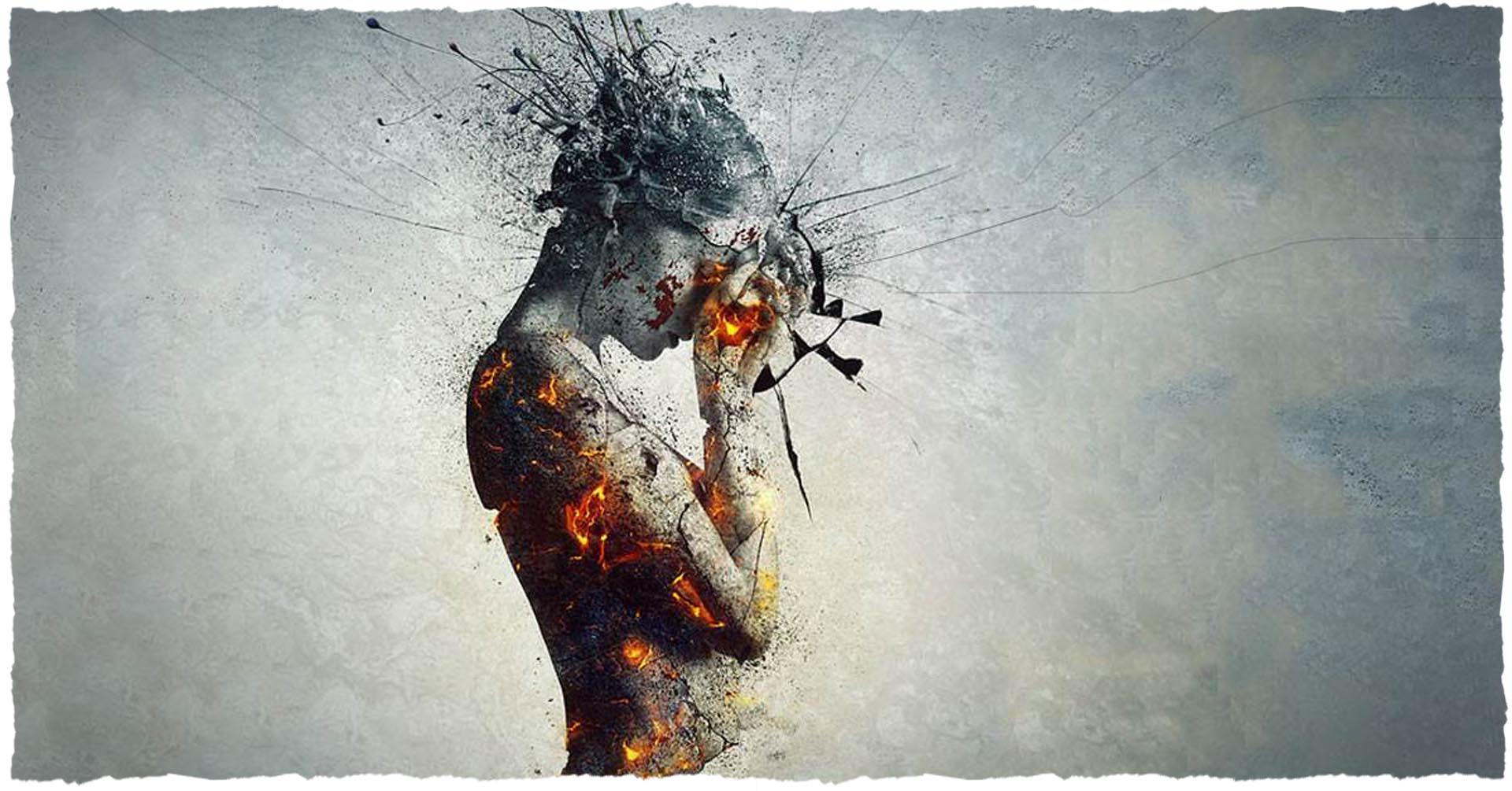 Отражение внутреннего состояния злого человека