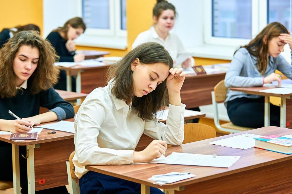 Потирание лба у школьников