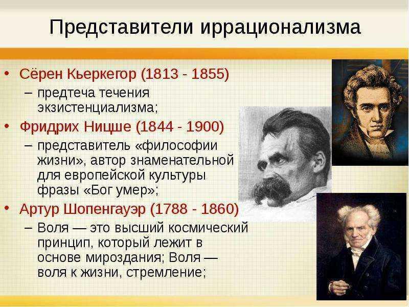 Представители иррационализма