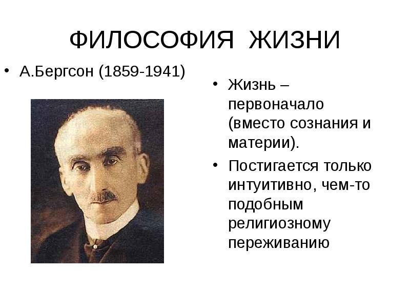 Концепция А. Бергсона