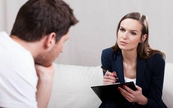 Приём у психотерапевта